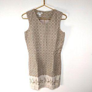 Tyler Boe 100% Linen Boho Olive Khaki Dress 4